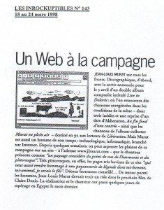 Les Inrocks n°143. 18.03.98