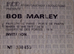 bob marley invitation