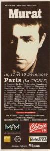 1993 10 27 TELERAMA pub Vénus tour